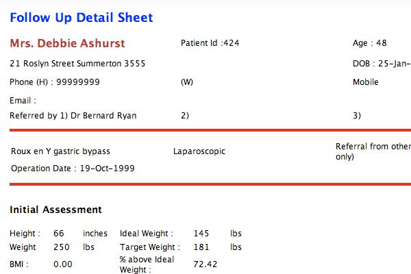 Lapbase Patient Details